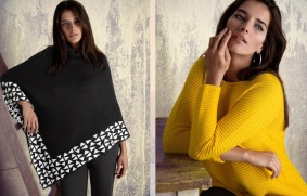 mantella nera e bianca - maglia gialla