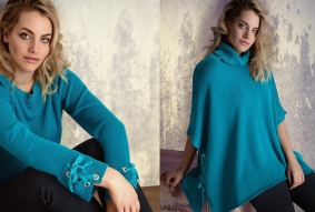 mantella e maglia con ochielli a vela lana e lurex